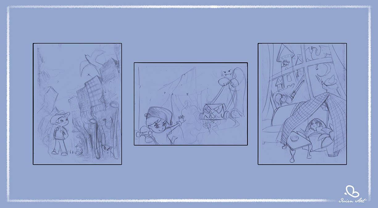 valentina lauria - ivien art - children's point of view sketches