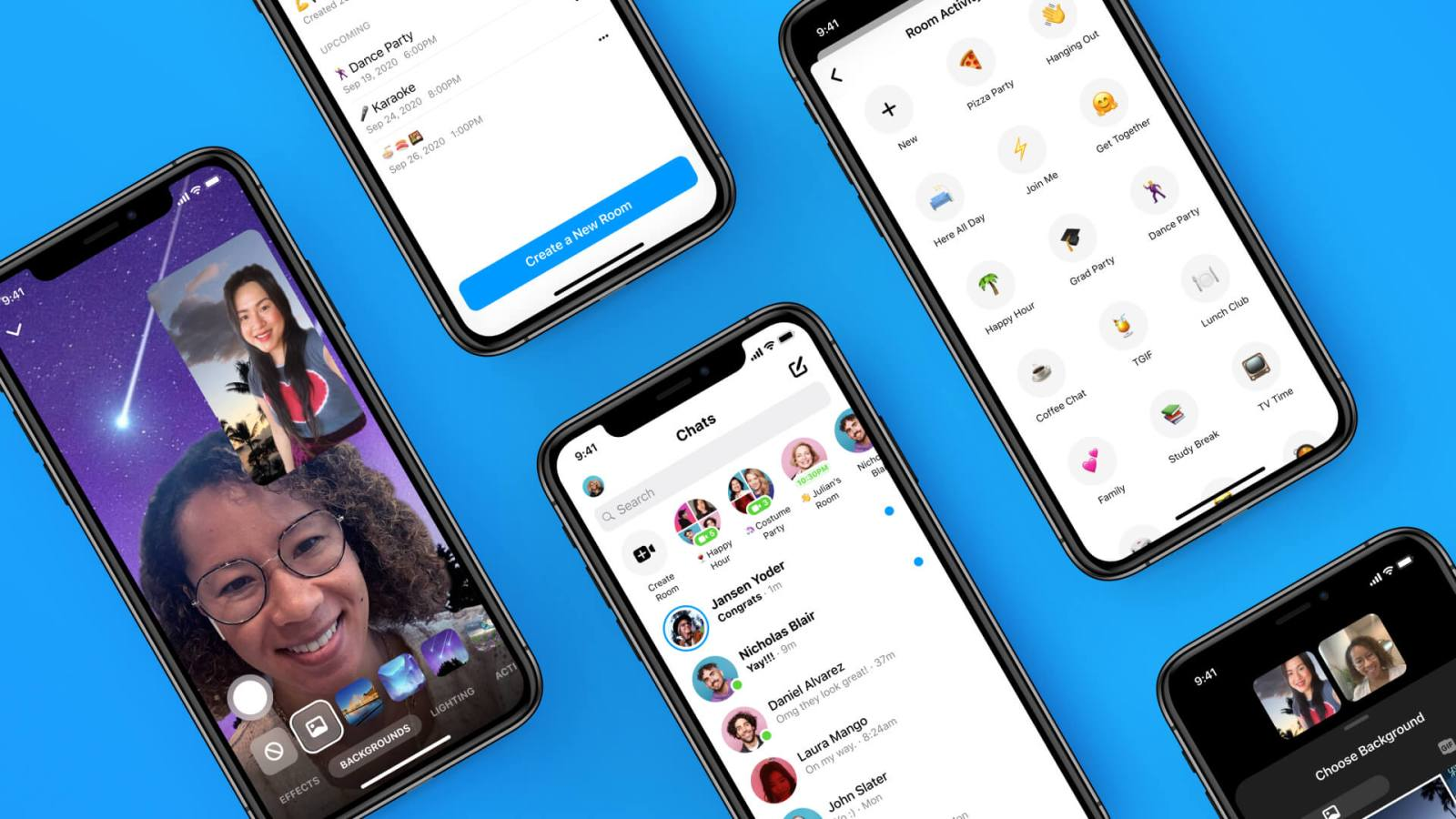 Facebook Added AR Effects and 360-degree Background to Messenger Rooms