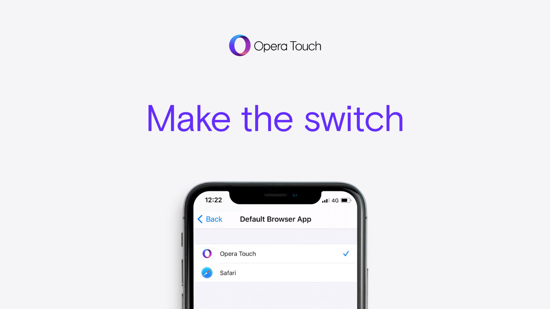 How to set Opera Touch as your default browser on iOS