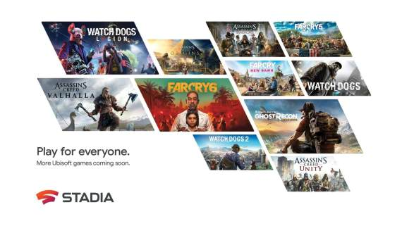 Popular Ubisoft Games are Coming to Google Stadia
