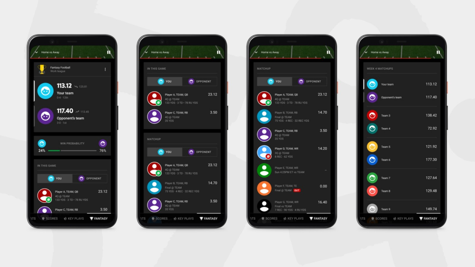YouTube TV Introducing Fantasy View to Check Football Team Stats Without Leaving Game