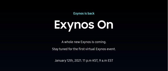 Samsung Exynos will be coming back at CES 2021 on January 12, 2021