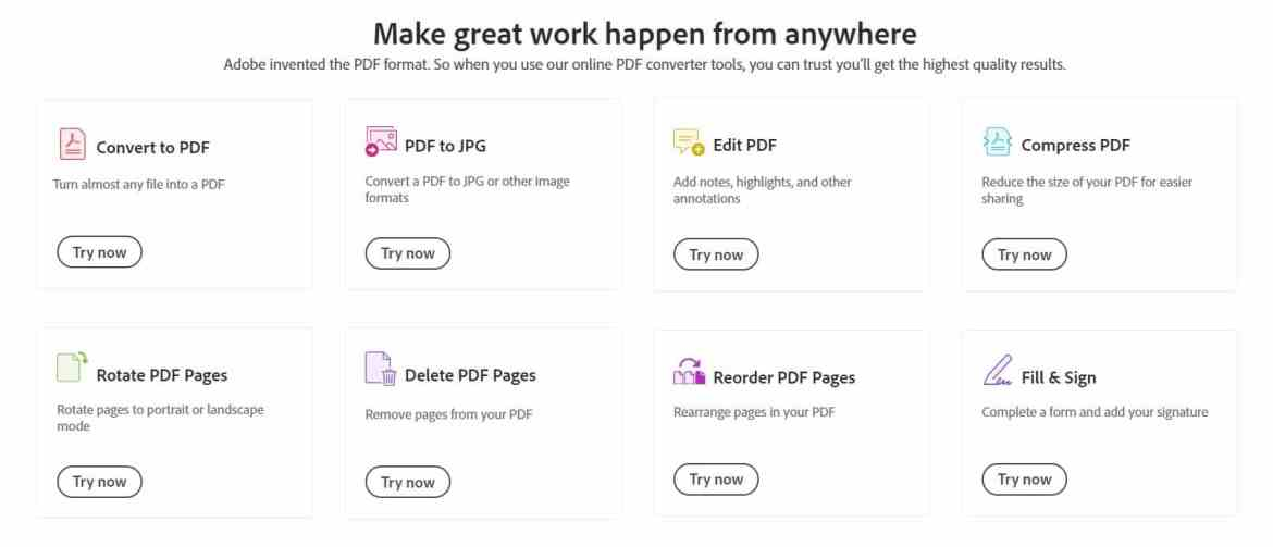 Adobe launches Acrobat web tool, so you can manage every PDF task in the web browser