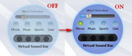 Activate Virtual Sound Bar