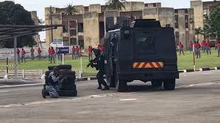 HAMED BAKAYOKO: Fin de stage des stagiaires commandos de la Gendarmerie Nationale au camp d'escadron