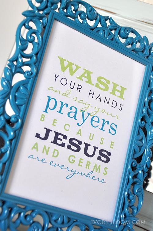 Jesus is Everywhere - Free Bathroom Printable from Ivory Bloom