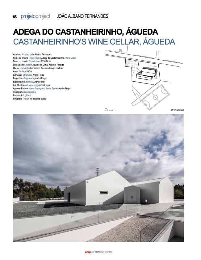 Revista Arqa 135 Arquitecto Joao Albano Adega 1 do fotografo Ivo Tavares Studio