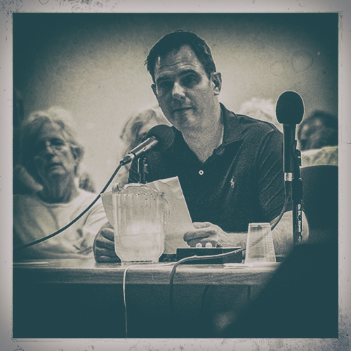Speaking to City Council