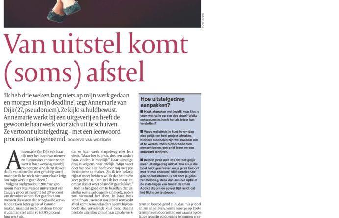 thumbnail of 20091024-De-Morgen-Uitstelgedrag