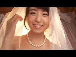 中村静香 教会でウェディングドレスで色っぽく迫る