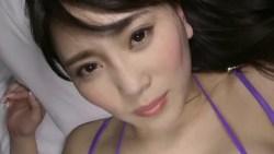 森咲智美 エロ下着を着た美女をベッドで攻める擬似セックスシーン
