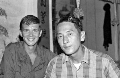 Author, Tom Davis, and his friend, Nguyen Tuan