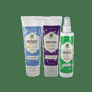 Honey Shine, Revival and No Frizz Spray Bundle