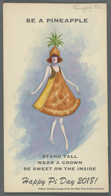 Woman in a pie costume