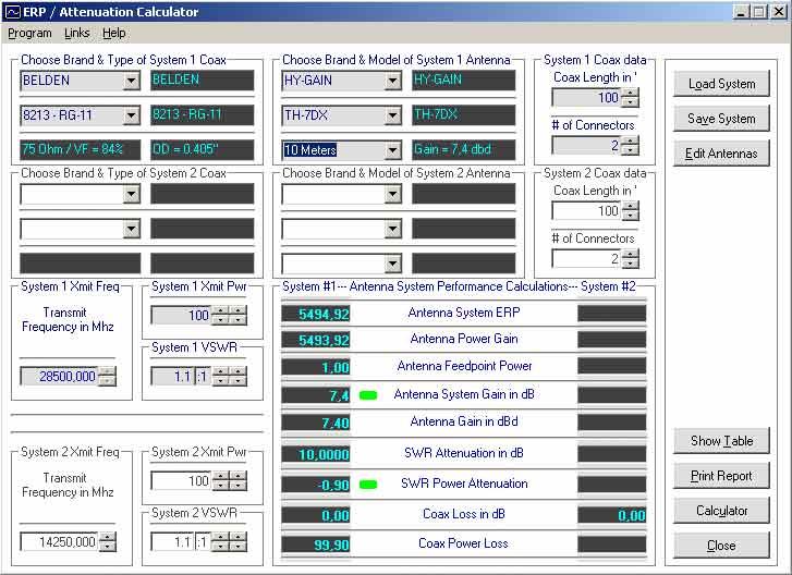 ERP Calculator - IW5EDI Simone - Ham-Radio