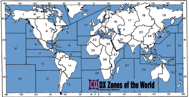 CQ MAP Zones