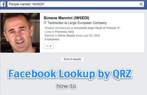 Facebook : search by amateur radio call-sign - IW5EDI Simone - Ham-Radio