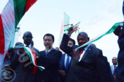 President Nkurunziza leads the ribbon-cutting ceremony to inaugurate the first phase of MAN in Burundi. He says his deepest wish is to see even the most remote areas of the country have internet access.