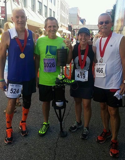 Steve Lamp and the iWALK at the Parkersbug, WV 2 mile race