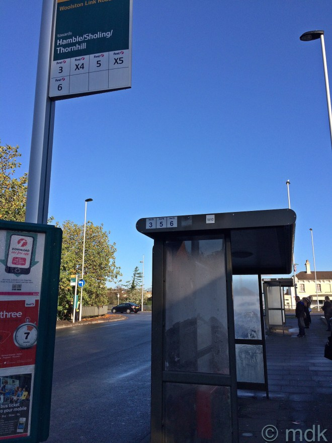 Bus stop number two on the Itchen Bridge Link Road