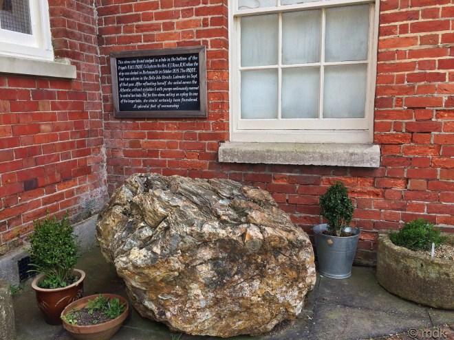 The massive rock