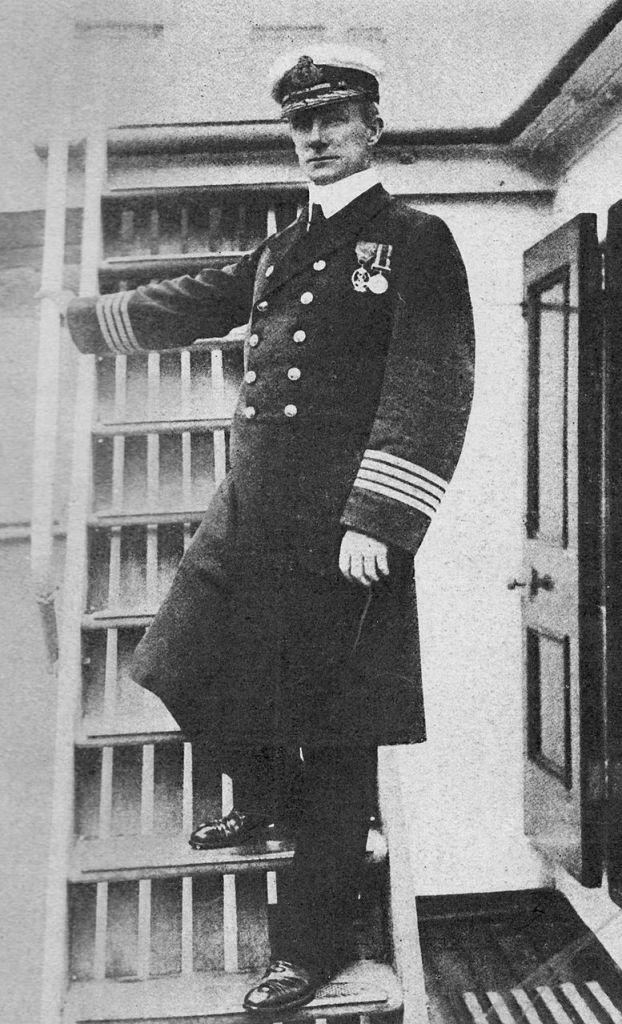 Sir Arthur Henry Rostron aboard the Carpathia