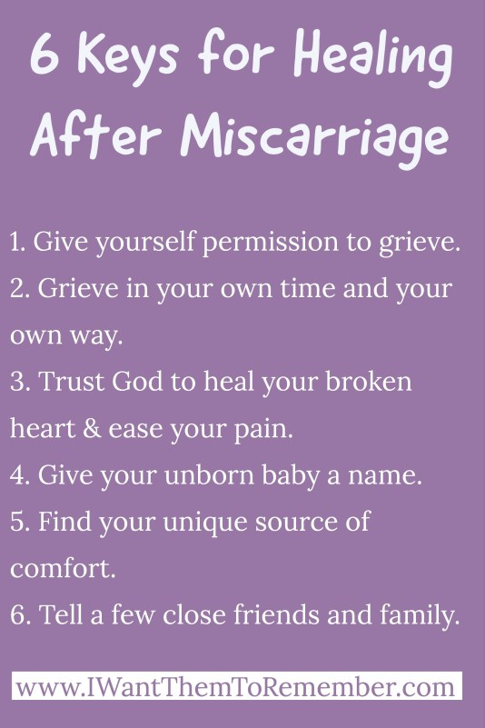 healing after miscarriage