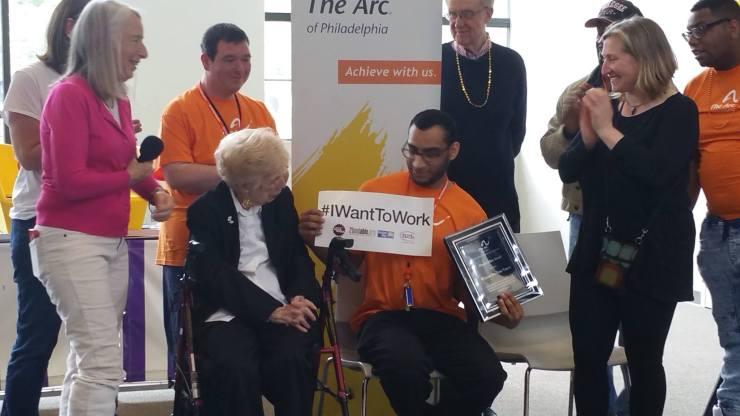 William Del Toro Vargas receives The Arc of Philadelphia's Eleanor Elkin Award