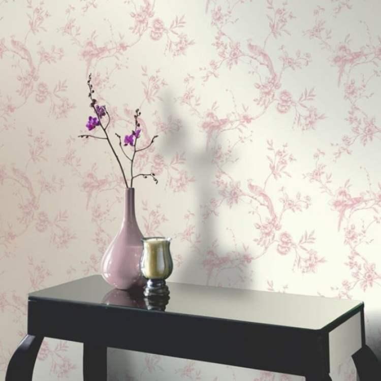 Arthouse Opera Chinoise Floral Pattern Songbird Flower Motif Wallpaper 422802