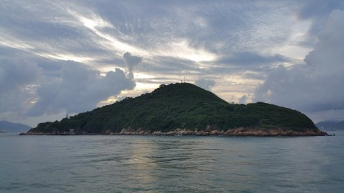 On the way back To the city. We are passing by perfectly shaped Islands.