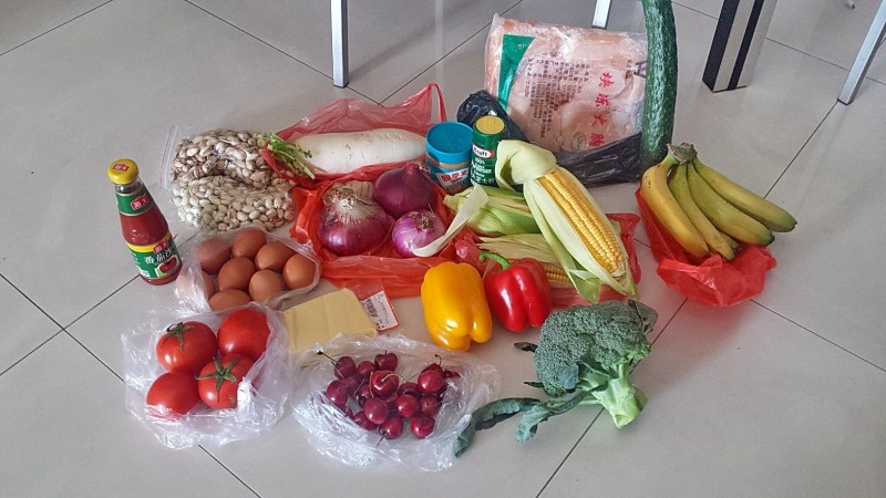Fresh local vegetables and fruits from the market