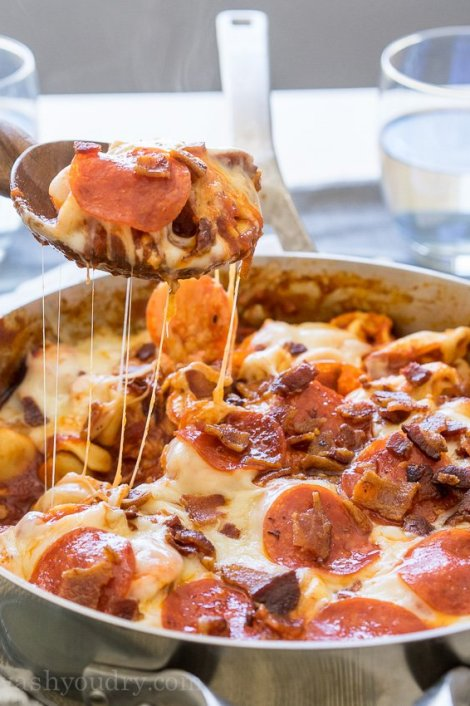 Meat Lovers Tortellini Skillet {I Wash...You Dry}