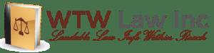 logo and tagline of WTW Law Inc's website