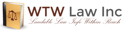 logo and tagline of WTW Law Inc's website
