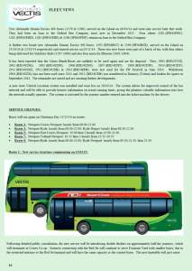 The latest Southern Vectis fleet news is reported in 'The Enterprise'