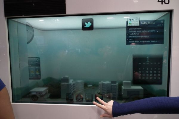 Samsung demos ambient light-powered transparent LCD