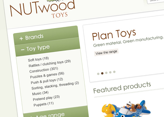 iWeb Design and develop an eCommerce solution for Nutwood Toys