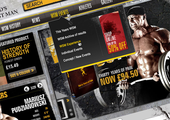 iWeb redevelop Worlds Strongest Man's website