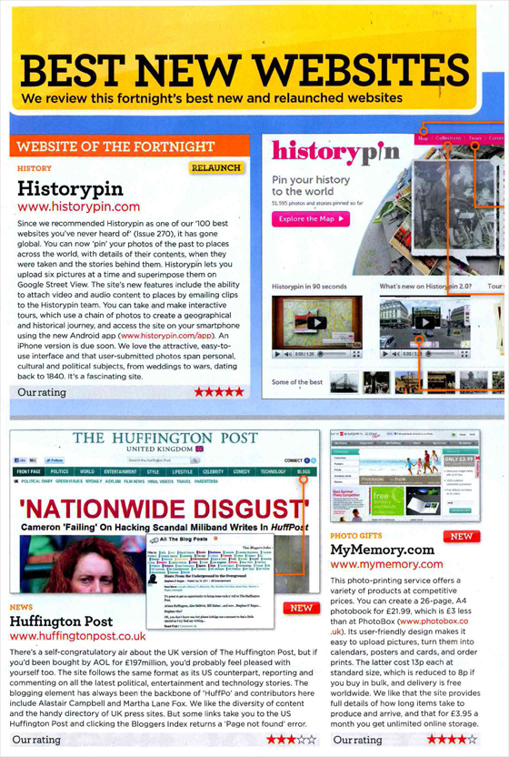 iWeb Win Best New Website Award for 'MyMemory Photogifts'