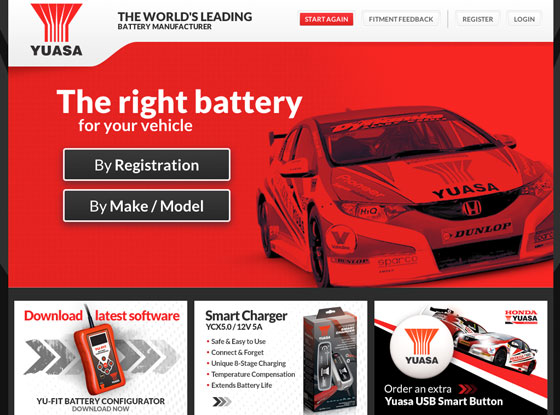 Battery search facility powered by iWeb and Magento