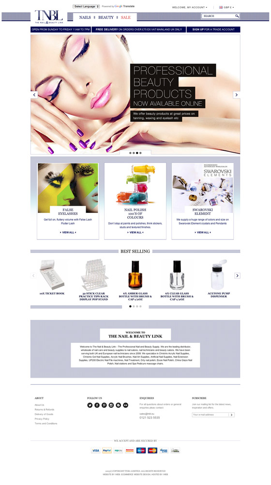0e2105339dc iWeb brings a little Magento glamour to beauty product suppliers ...