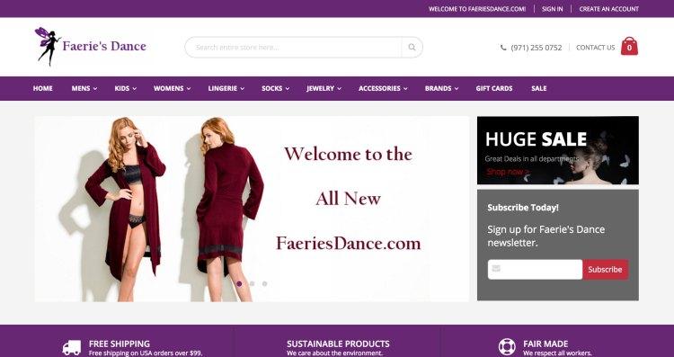 www.faeriesdance.com   Magento 2