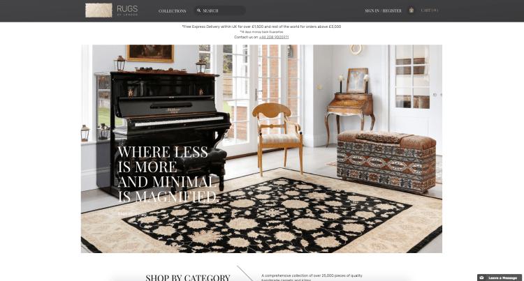 Website Creation | Rugs of London