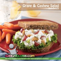 Grape and Cashew Salad Sandwich