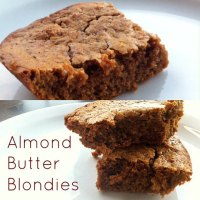 Almond Butter Protein Blondies