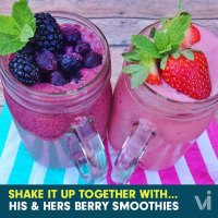 His & Hers Vi-Shape Berry Smoothies