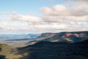 Les blue mountains vues depuis echo point.