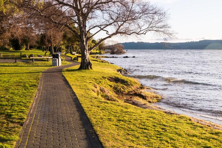 "The beginning of the ""Great Lake Walkway»."