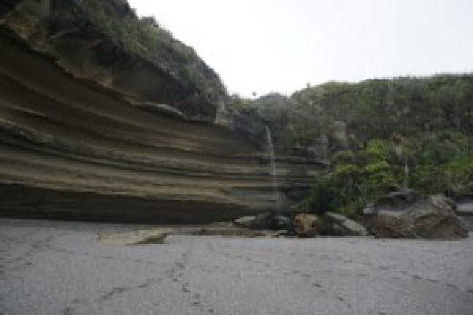 Les falaises de calcaire.