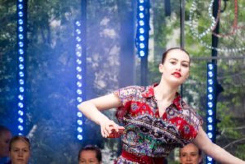 Une des ballerines du spectacle de danse.